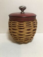 Longaberger 2005 Small Strawberry Basket With Lid And Liner