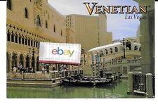 VENETIAN HOTEL & CASINO LAS VEGAS CANALS & GONDOLA'S POSTCARD