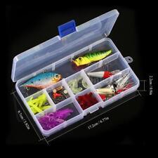 45pcs/Set Fishing Lures Kit Set Baits Crankbaits Spinnerbaits Topwater Box B7P8