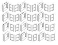 ☀️LEGO LOT OF 12 NEW WHITE 1 X 4 X 3 WINDOWS W/ White Panel Pane TOWN CITY HOUSE