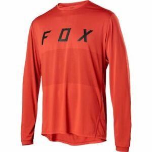 Fox Racing Ranger Long Sleeve Orange Crush Jersey MX BMX MTB Race Jersey Shirt