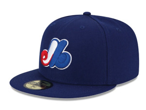Montreal Expos New Era Navy Road Authentic Collection On-Field 59FIFTY Hat Cap