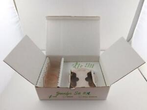 Mosser Glass Pink Depression Jennifer Set #4 w Box Miniature Cake Plates A+ COND