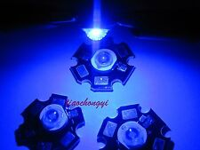 10PCS 3W 450NM-455NM Royal Blue High Power LED Emitter 700mA with 20mm Star PCB