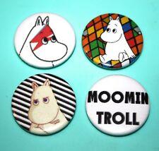 Set Of Moomin Troll Button Pin Bagdes