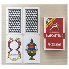 Mazzo carte da gioco Modiano regionali napoletane rosse 100% plastica - scopa