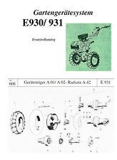 Ersatzteilkatalog Liste Anleitung Fortschritt E 930 E930 E931 DDR Einachser