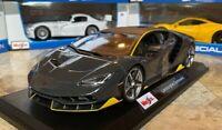 Lamborghini Centenario Gray Maisto 1:18 Scale Diecast Metal Model Car RARE NIB