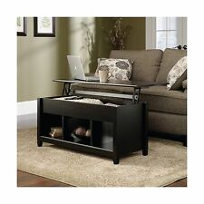 Sauder Edge Water Living Room Lift-Top Storage Coffee Table Estate Black Finish