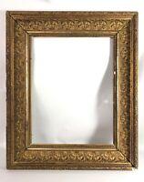 Ancien Cadre bois et stuc doré 50x60cm feuillure: 34,3x44,8cm Eb8