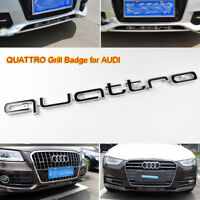 QUATTRO Black Grill Badge Emblem for Audi RS A1 A3 A4 A5 A6 S3 S4 S5 RS3 RS5 RS6