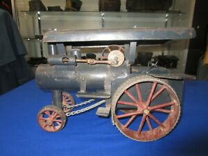 Vintage Early 1900's Handmade Large Toy Farm Steam Tractor