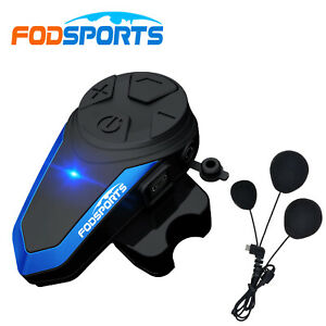 BT-S3 1000M Bluetooth Motorcycle Helmet Intercom Headset 3 Riders Communication