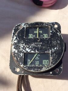 Land Rover Series 1/2/ 2a ??? Military Oil Pressure & Amps Gauge Jaeger Smiths