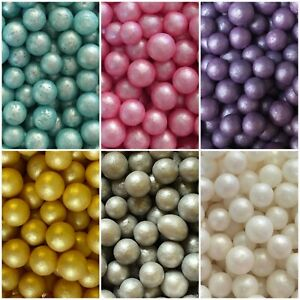 Edible 6-7mm Pearls Balls Cupcake Sprinkles Cake Toppers Decoration Wedding Baby