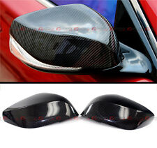 For 14-2020 Infiniti Q50 Q60 Q70 Qx30 Carbon Fiber Side View Mirror Cover Caps