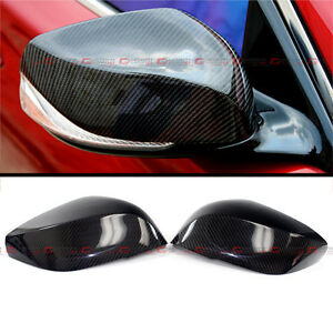 FOR 2014-2021 INFINITI Q50 Q60 Q70 QX30 CARBON FIBER SIDE VIEW MIRROR COVER CAPS