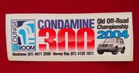 Sticker - Condamine 300, Qld Off-road Championship 2004 - 5cm x 17cm