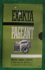 1950's Exakta Pageant Camera Brochure Catalog Original Camera Tag Price List