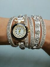 Damen Armbanduhr  mit 24 Kristallen Kratzfestes Glas WOMAN 🎁 NEU