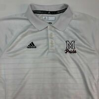 Adidas Climalite M Pride Polo Shirt Men's Large Short Sleeve White Poly Blend