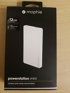 Genuine Mophie Powerstation mini 3000mAh External Battery White - Brand New