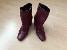 WAREHOUSE SIZE 8 RED/BURGUNDY BOOTS