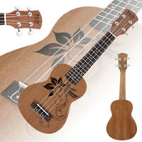 "New IRIN 21"" Bird Pattern Soprano Sapele 4 Strings Ukulele Uke Hawaiian Guitar"