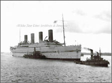 Photo: Rare View, HMHS Britannic At Mudros With Tugs, WWI, 1916