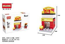 2000-5 New Diamond Building Blocks Mini Street view McDonald's Restaurant Store