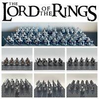 LOTR Lot Gondor Dwarf Elves Orc Infantry Army Set - USA SELLER