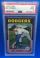 1975 Topps #23 Bill Russell Los Angeles PSA 9 MINT Dodgers