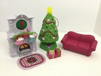 Fisher Price Loving Family Home For The Holidays Tree Fireplace Stockings