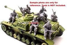 New Caesar 1/72 WWII German Soldier Tank Riders in Winter 7pc Figures Army Men