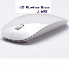 Wireless Optical Mouse 2.4GHz Quality Mice USB 2.0 Receiver for PC Laptop WHITE