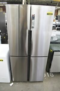 """Haier HRQ16N3BGS 33"""" Stainless Steel French Door Refrigerator NOB #112964"""