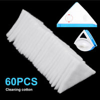 60Pcs Double Sided Window Cleaner Wiper Cleaning Washing Cotton Accessories Tool