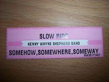 "1 Kenny Wayne Sheppard Slow Ride Jukebox Title Strips Cd 7"" 45Rpm Records"