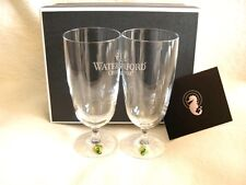 2x WATERFORD JUICE BEVERAGE GLASSES FOOTED BRAND NEW AND BOXED