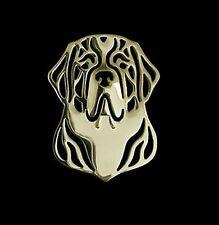 Saint Bernard Dog Brooch or Pin -Fashion Jewellery Gold Plated, Stud Back