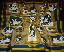 "HERMES silk scarf "" Wedgwood "" by Ledoux 1974 Scarf Hermes"