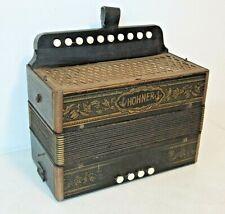 Vintage Antique HOHNER BUTTON ACCORDION, All Keys Work, Deep Toneful Sound