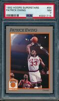 PSA 7 PATRICK EWING 1991-1992 Hoops Sears 100 Superstars #64 KNICKS NEAR MINT