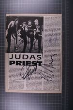 More details for judas priest signed halford kk tipton and hill magazine page