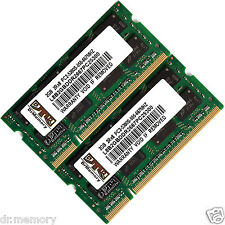 4gb (2x2gb) ddr2-667 pc2-5300 Laptop (SODIMM) di memoria (RAM) 200-pin