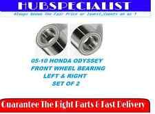 FRONT WHEEL BEARING 2005-2010 HONDA ODYSSEY LEFT & RIGHT PAIR