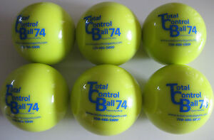TOTAL CONTROL BALL TCB 74 Baseball Weighted Training Hitting Batting Aid ~ 6 PK