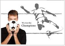 Footballer's We are the Champions Wall Stickers Art Decals Decor LOUNGE Kids Bed