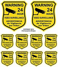 10  Home Alarm Defense Security Decal Yard Sign Stickers Video Surveillance