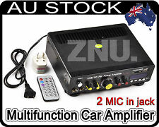 Car Home Sub Bass Hifi Stereo Audio Amplifier AMP For Ipod MP3 FM USB 12V 220V